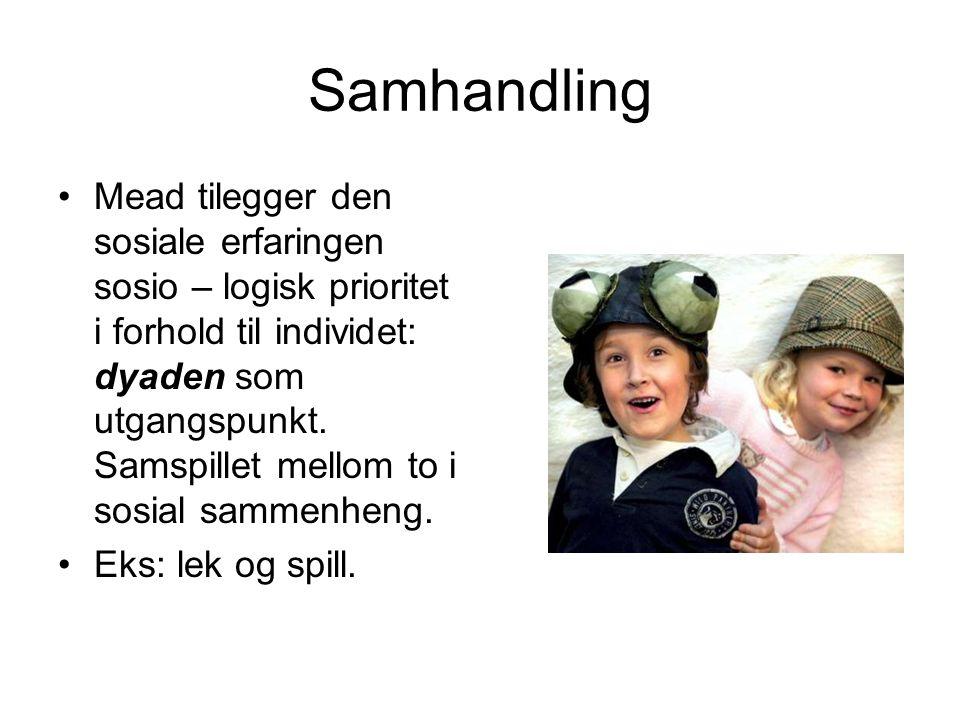 Autososialisasjon; barnets aktive selvsosialisering.