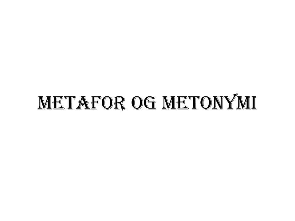 Del I – Forskjellige metaforteorier den klassiske metaforteori den interaksjonistiske metaforteori metaforteori innenfor komponentanalyse den kommunikative metaforteori den kognitive metaforteori * den klassiske varianten * blending-teori
