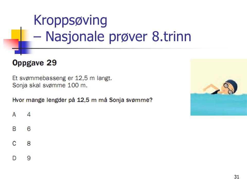 31 Kroppsøving – Nasjonale prøver 8.trinn
