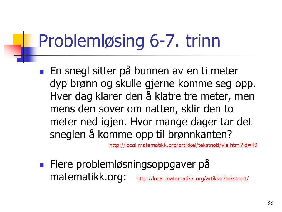 Problemløsing 6-7.