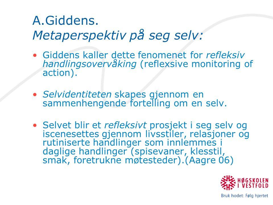 A.Giddens.