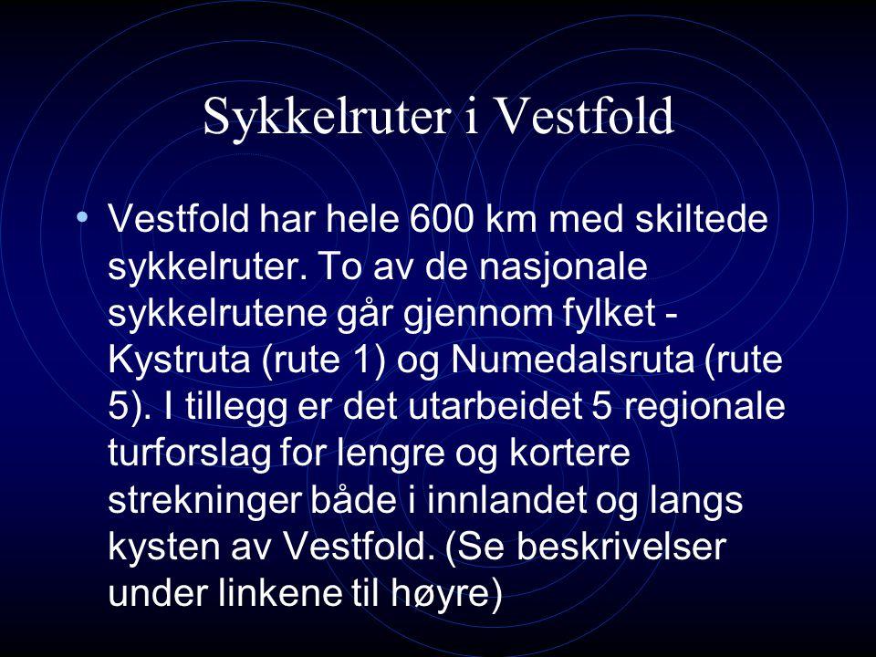 Sykkelruter i Vestfold Her finner du informasjon om sykkelruter i Vestfold