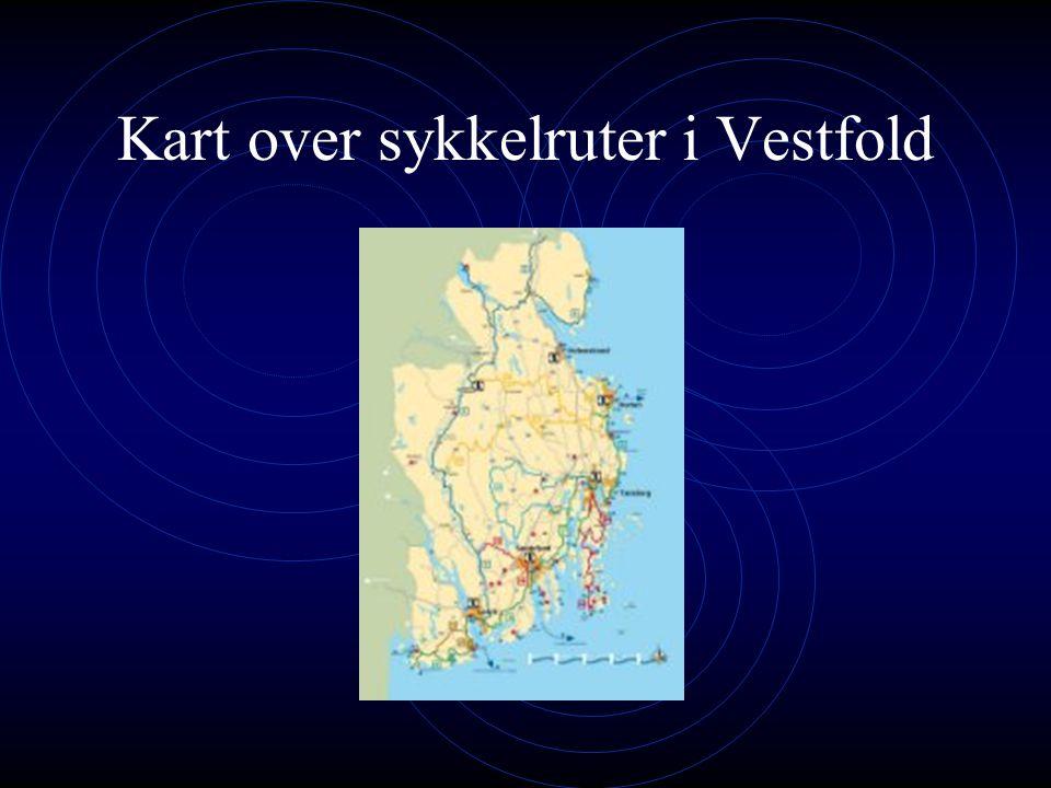 Sykkelruter i Vestfold Vestfold har hele 600 km med skiltede sykkelruter. To av de nasjonale sykkelrutene går gjennom fylket - Kystruta (rute 1) og Nu