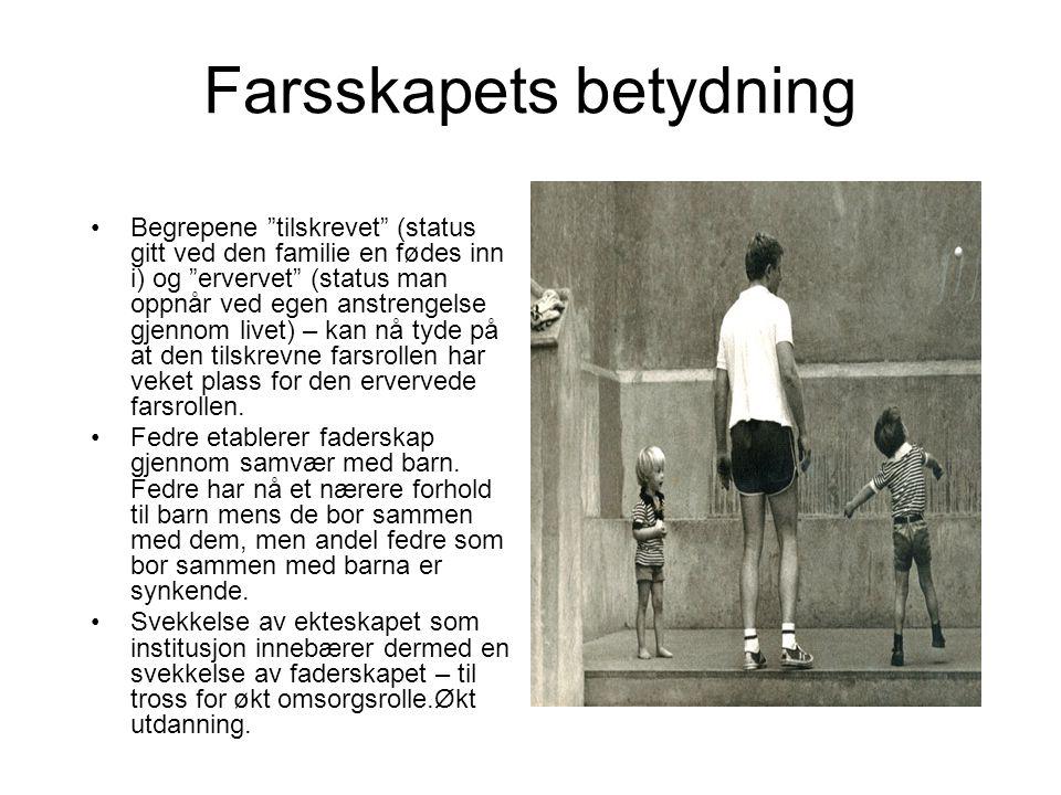 Litteratur: Frønes, Ivar og Andreas Hompland (red)(1994); Den nye familieboka.
