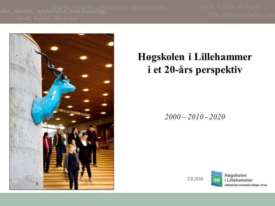 Høgskolen i Lillehammer i et 20-års perspektiv 2000 – 2010 - 2020 2.9.2010