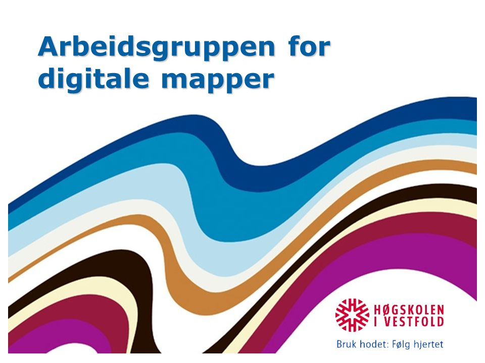 Arbeidsgruppen for digitale mapper