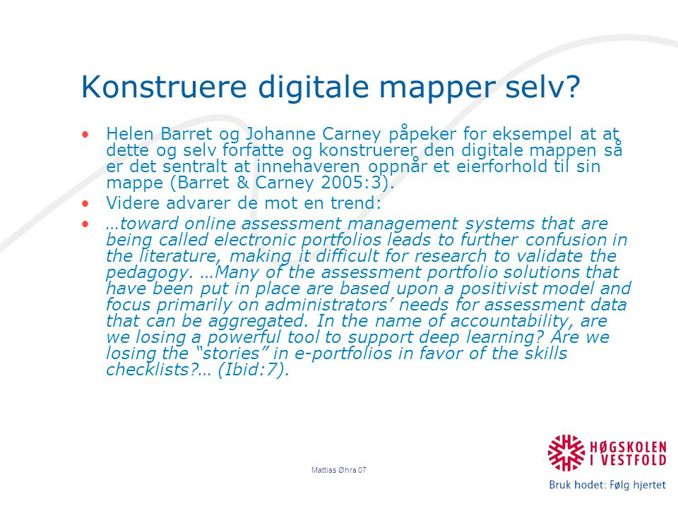 Mattias Øhra 07 Konstruere digitale mapper selv.