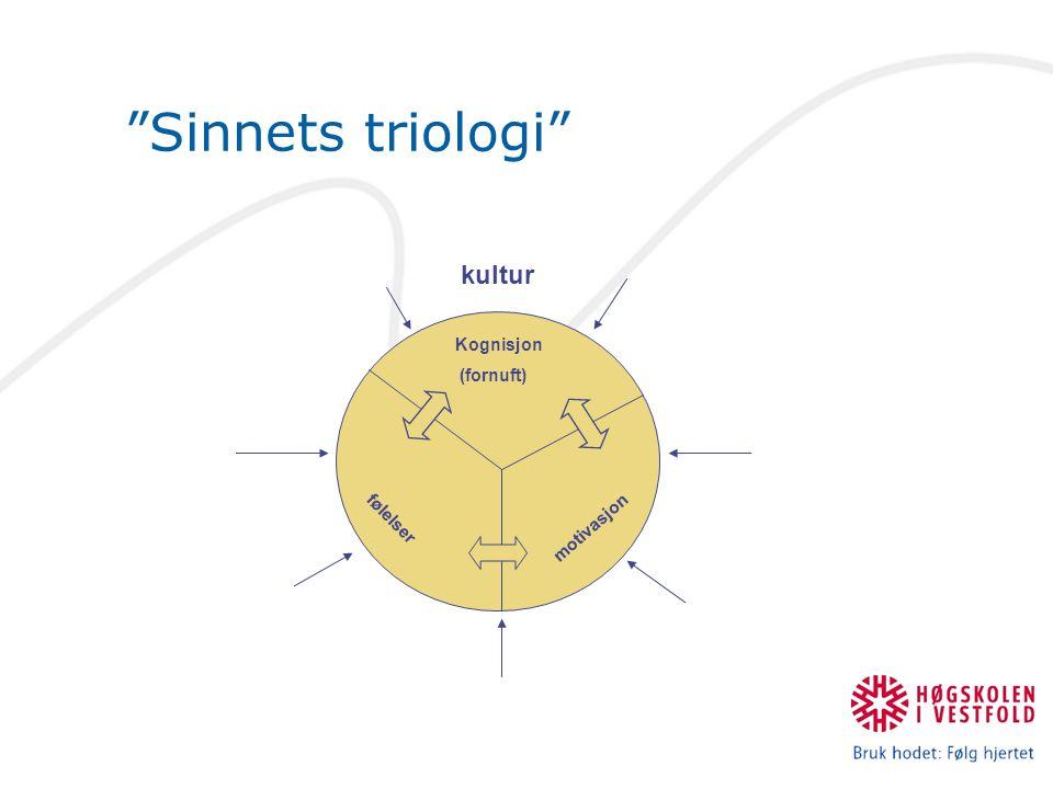 """""""Sinnets triologi"""" motivasjon Kognisjon (fornuft) følelser kultur"""