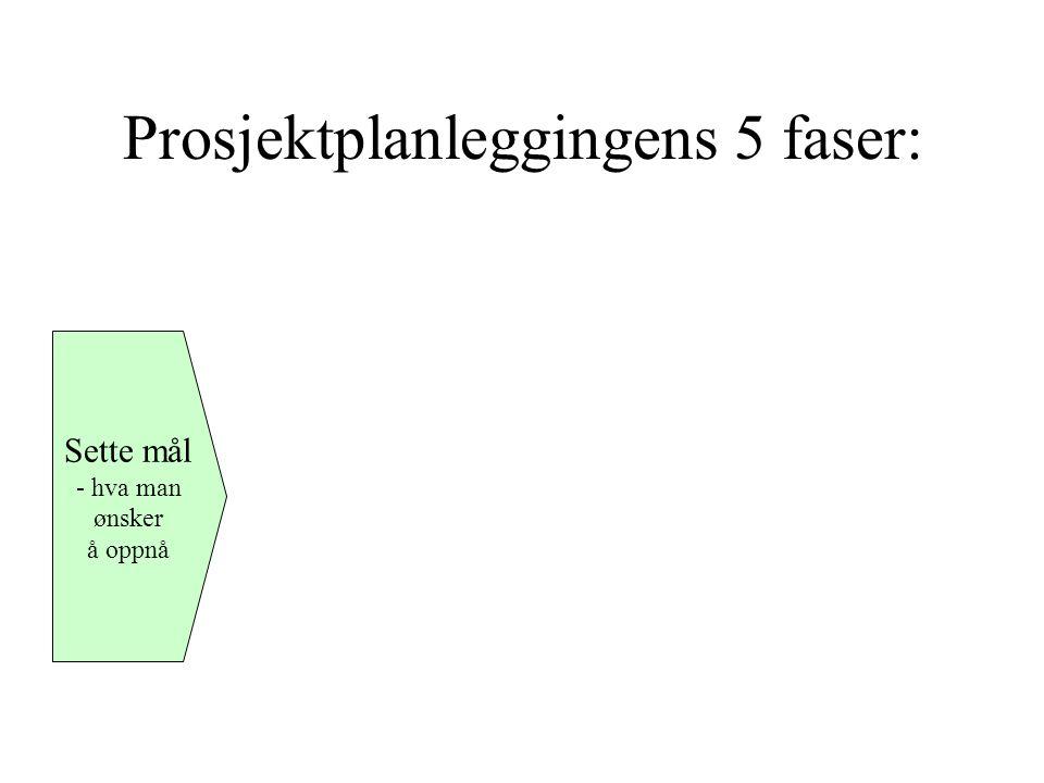 Prosjektplanleggingens 5 faser: Sette mål - hva man ønsker å oppnå