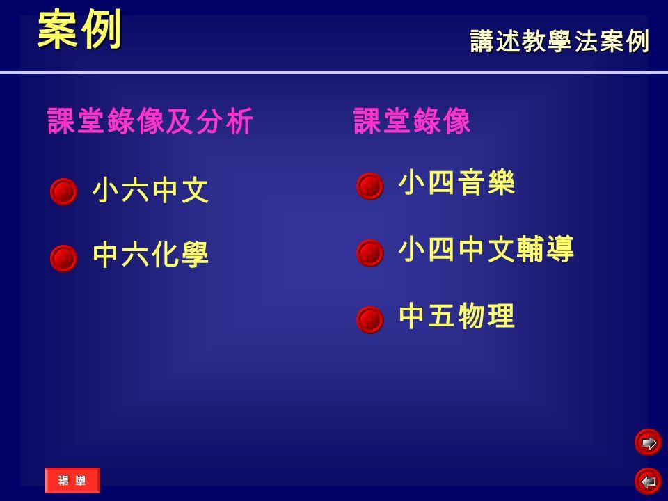 案例 中五物理 課堂錄像及分析 小六中文 中六化學 課堂錄像 小四音樂 小四中文輔導 講述教學法案例