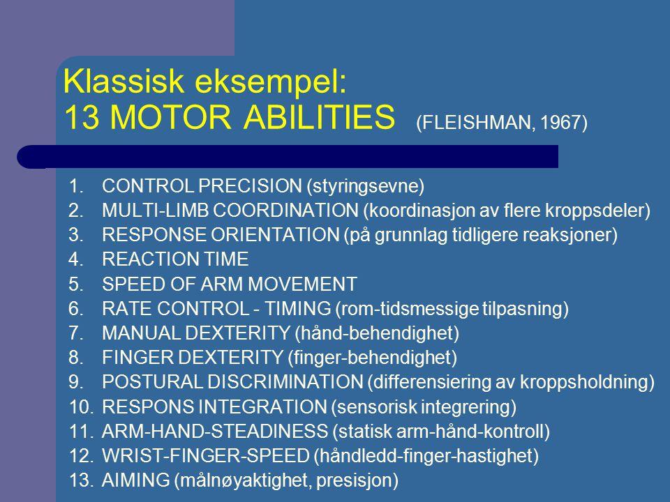 LÆRINGSUTBYTTE VED FORDELT OG MASSIV ØVING Treningsøktene i motorisk læring/teknikktrening kan ofte være for langt Hyppigere treningsøkter er å foretrekke Det som den lærende selv ville velge, er ikke alltid det mest effektive mtp.