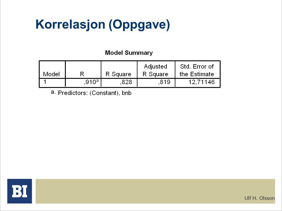 Ulf H. Olsson Korrelasjon (Oppgave)