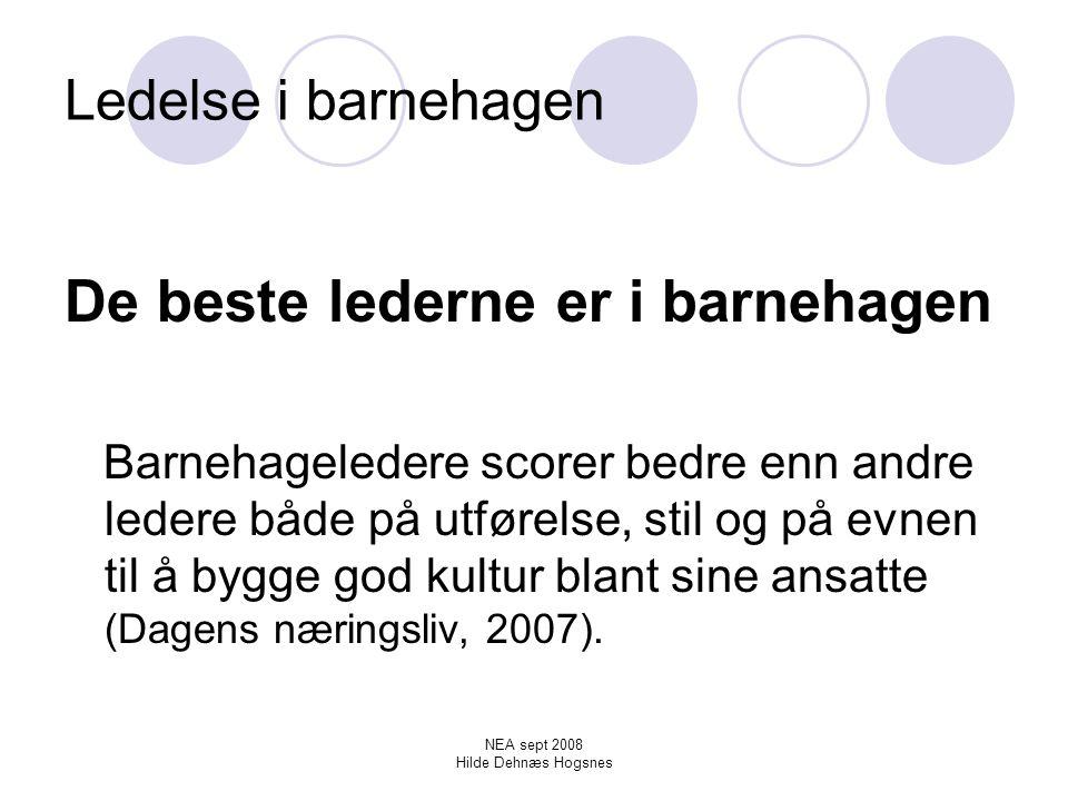 NEA sept 2008 Hilde Dehnæs Hogsnes Anerkjennelse av fagkunnskap.