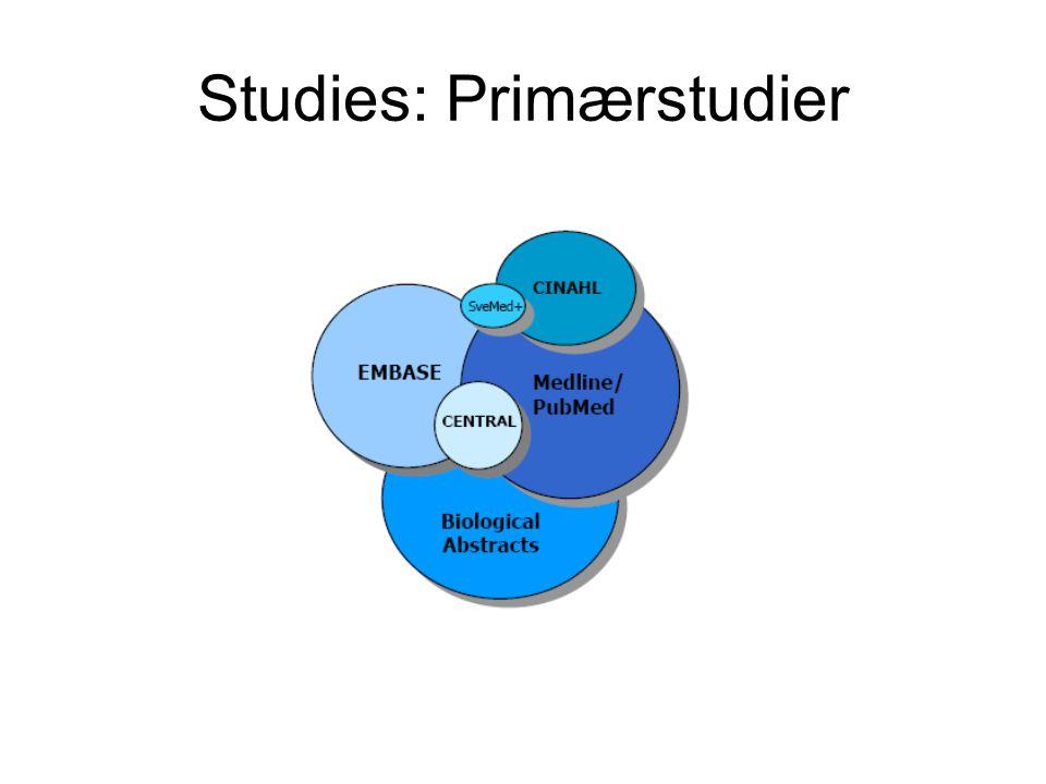Studies: Primærstudier