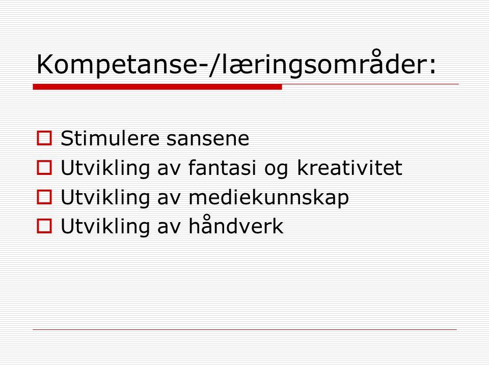 Kjerne og ramme  Kjernen i utvikling av estetisk kompetanse: IMPULS  Rammen rundt all skapende virksomhet: en LEKENDE atmosfære, en UTFORSKENDE holdning
