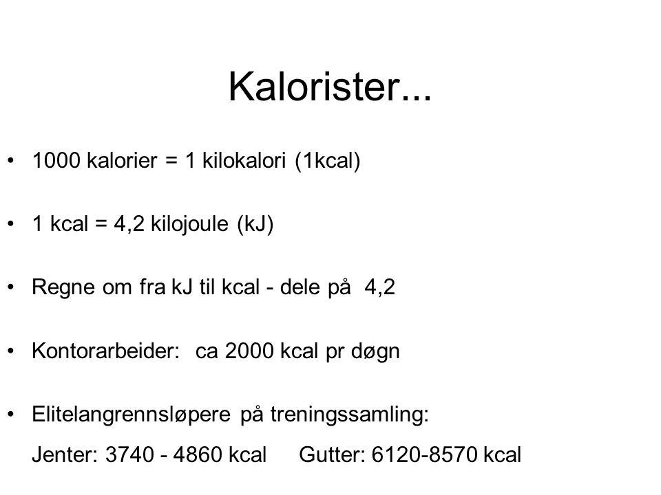 Kalorister...