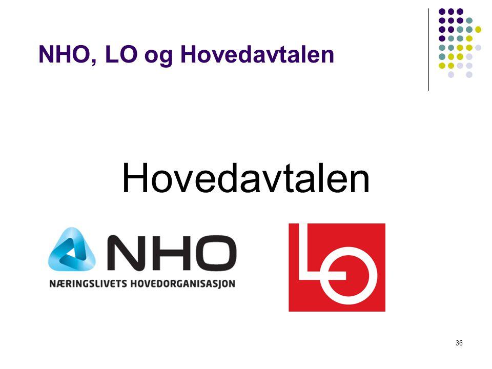 36 NHO, LO og Hovedavtalen Hovedavtalen