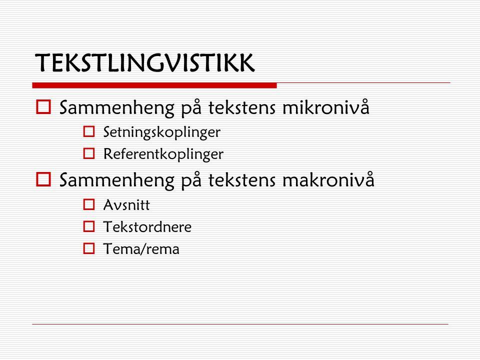 Oppgave 4) Gjør en feltanalyse av setningene under:  Han som kommer der, er mannen min.  Jeg har kjørt til hytta på Rondane.  I morgen har vi norsk