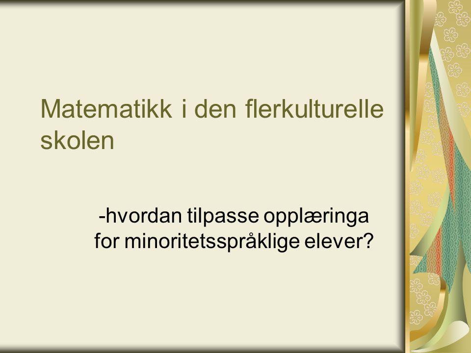 Morsmålslærere og tospråklig fagopplæring Hverdagsspråk i 2.språk: tar 2-3 år, forutsatt sosial samhandling Fagspråk i 2.språk: tar 5-7 år, forutsatt forståelig faglig input.