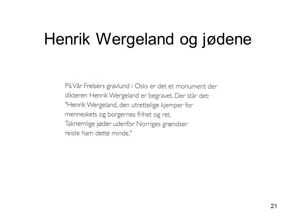 21 Henrik Wergeland og jødene