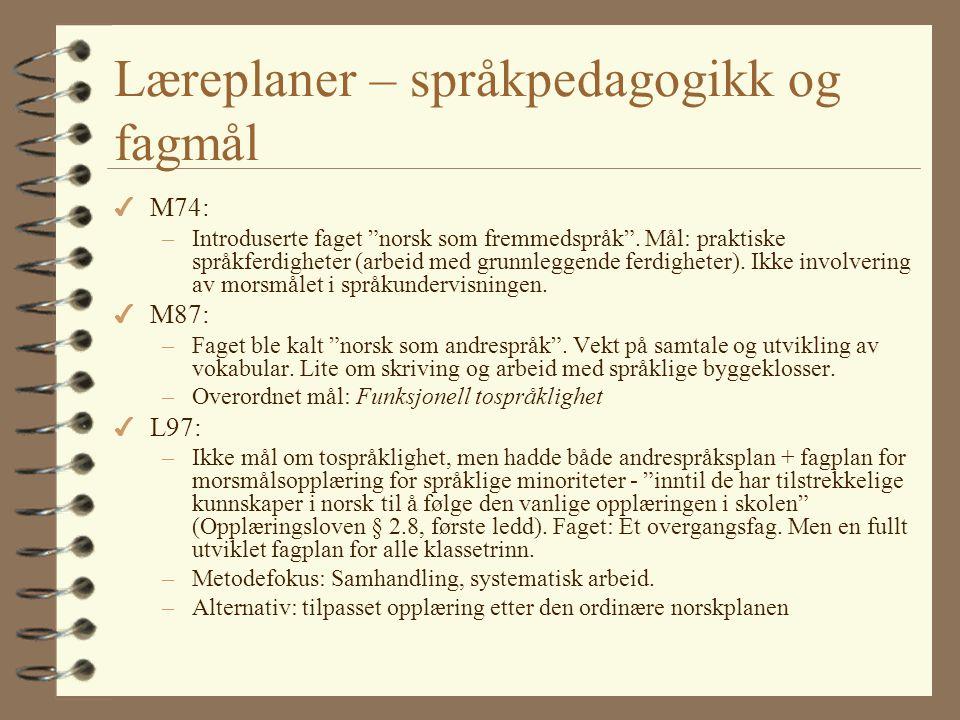 Opplæringsloven Elevar i grunnskolen med anna morsmål enn norsk og samisk har rett til særskild norskopplæring til dei har tilstrekkelig dugleik i nor