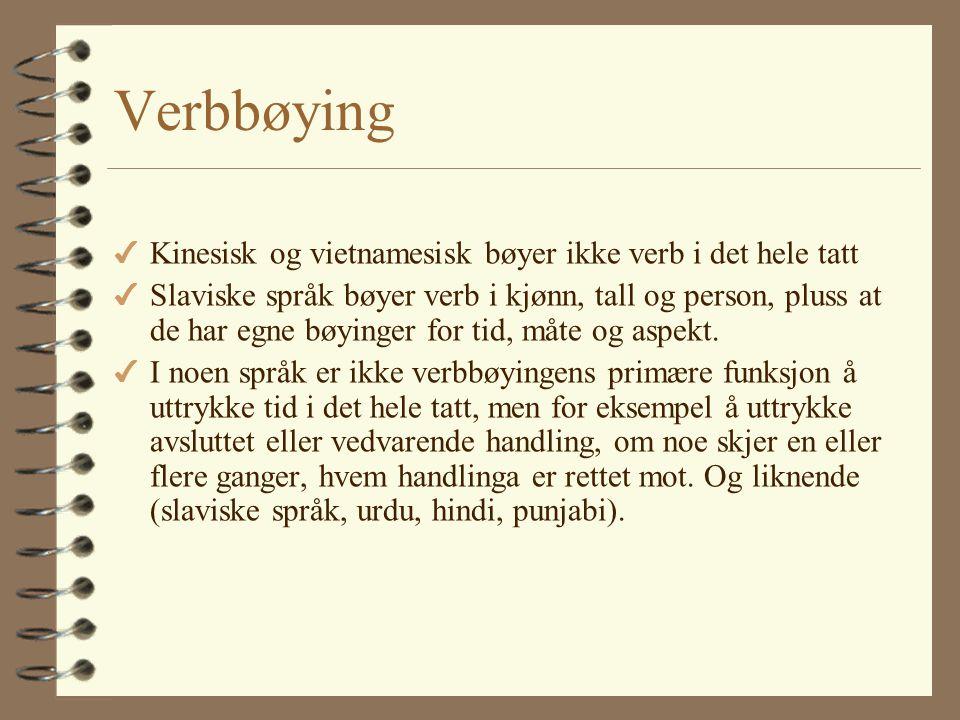 Kjønn og bestemthet 4 Norsk blander to systemer: –etterhengt bestemt artikkel (som i bulgarsk og serbokratisk) og –foranstilt ubestemt artikkel (som i
