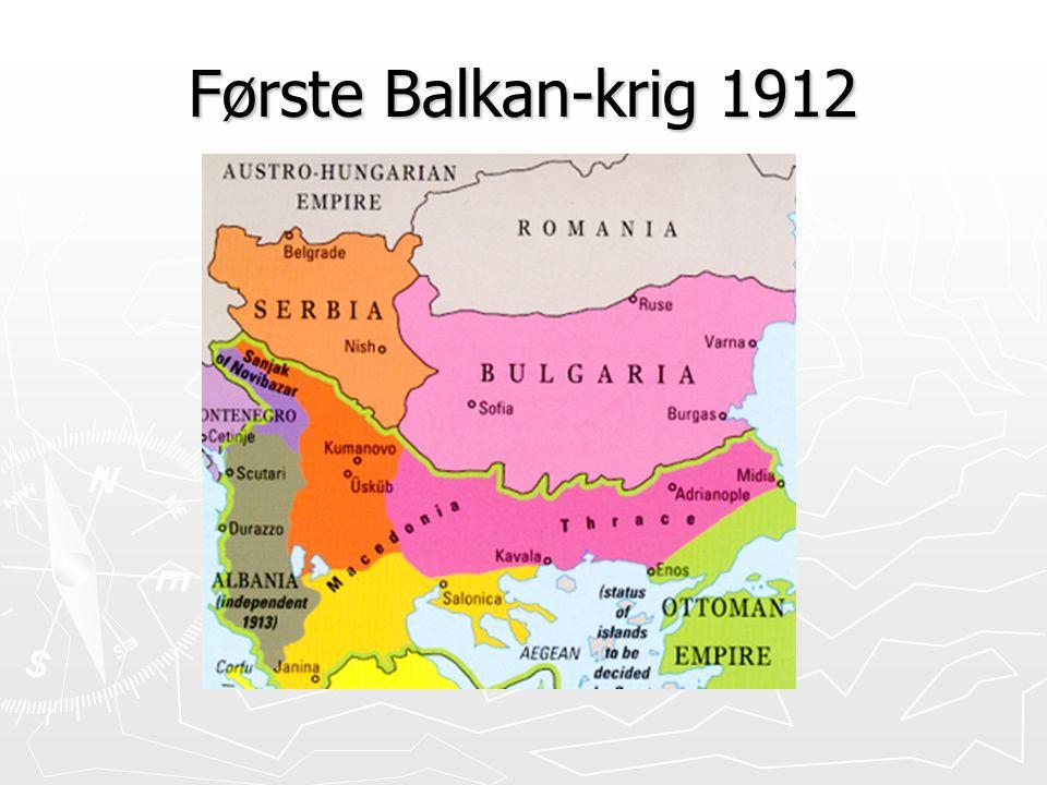Første Balkan-krig 1912