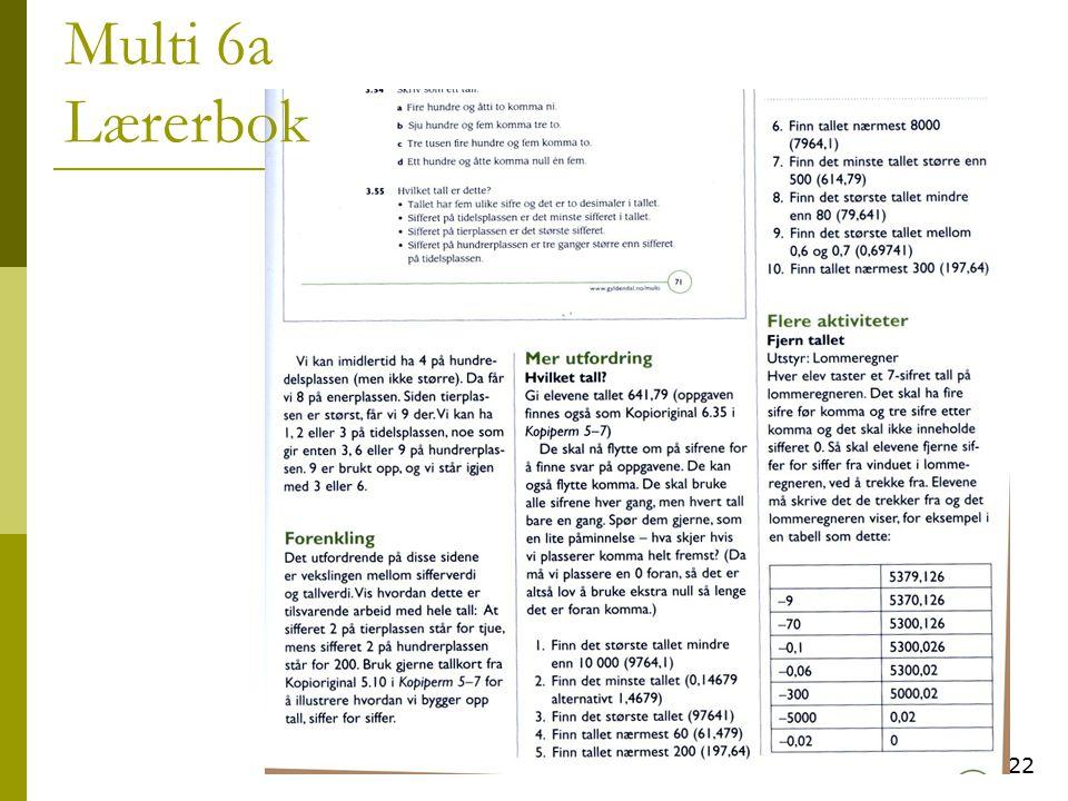 22 Multi 6a Lærerbok