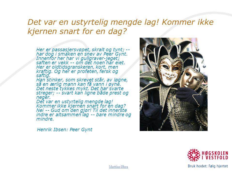 Mattias Øhra Det var en ustyrtelig mengde lag.Kommer ikke kjernen snart for en dag.