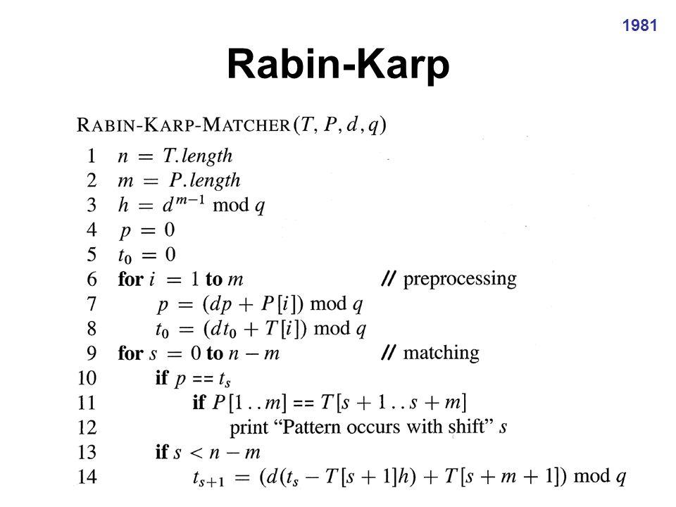 Rabin-Karp: Eksempel 2 2 2 3 3 3