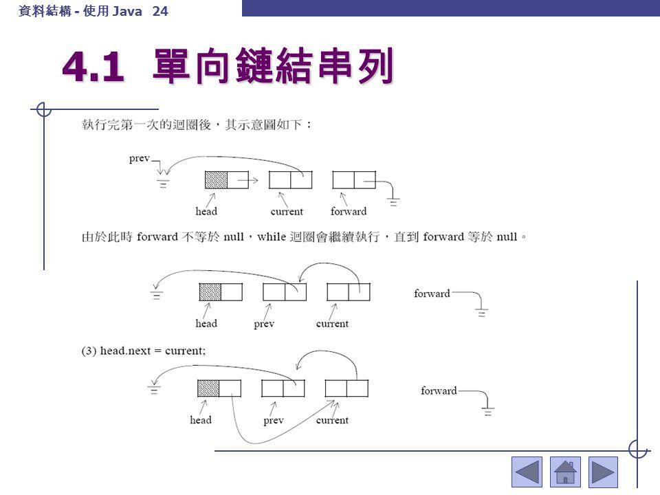 資料結構 - 使用 Java 25 4.1 單向鏈結串列 4.1.5 計算串列的長度