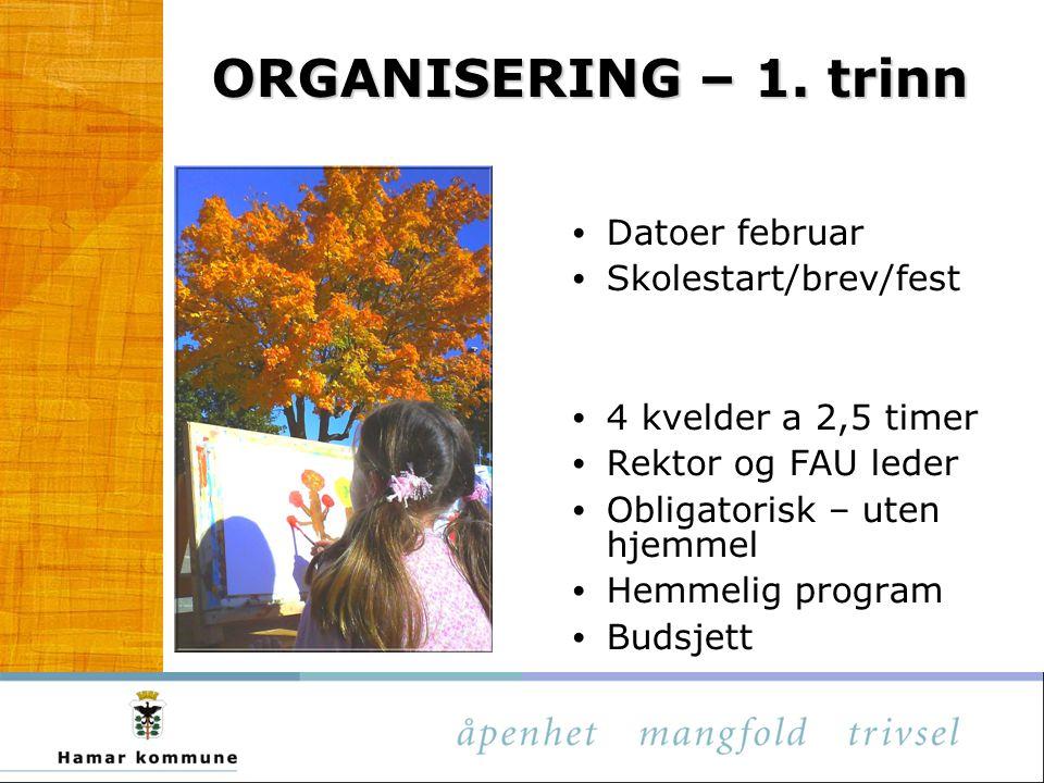 ORGANISERING – 1.