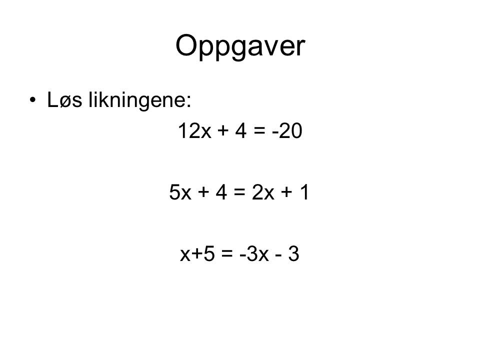 Ulikheter I likninger er to uttrykk like store I ulikheter er det ene uttrykket større enn det andre Ulikhetstegnene brukes for å vise hvilket uttrykk som er størst Flere tall som gjør det ene uttrykket større enn det andre