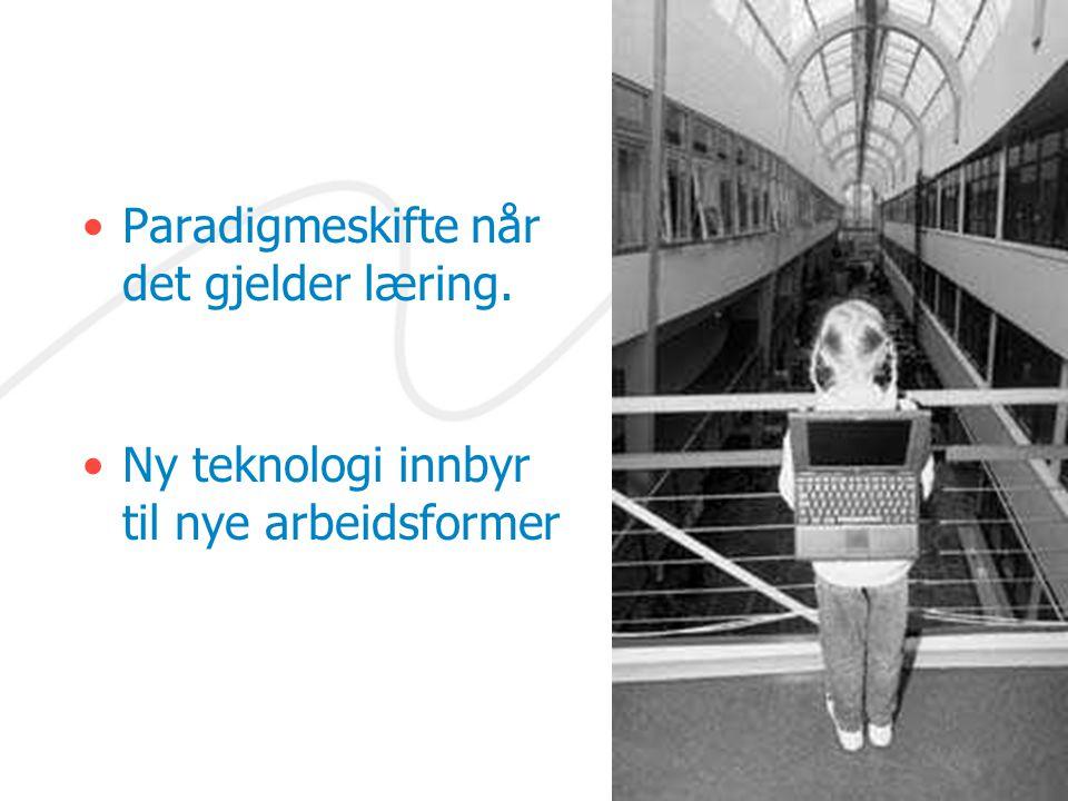 Paradigmeskifte når det gjelder læring. Ny teknologi innbyr til nye arbeidsformer