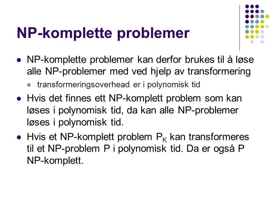 Eksempel på bevis for at et problem er NP-komplett.