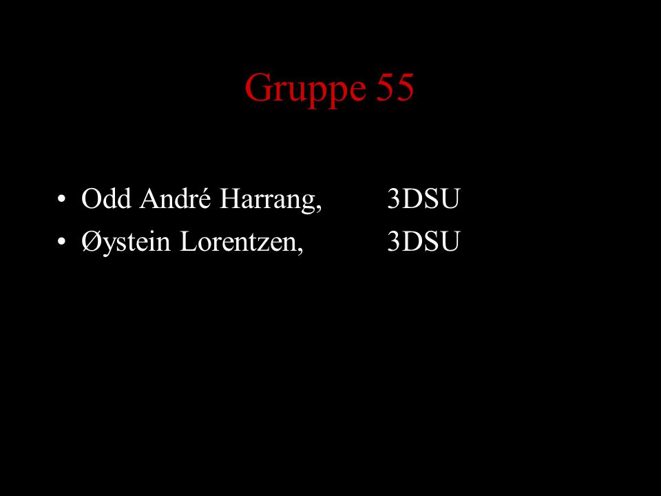 Gruppe 55 Odd André Harrang,3DSU Øystein Lorentzen, 3DSU