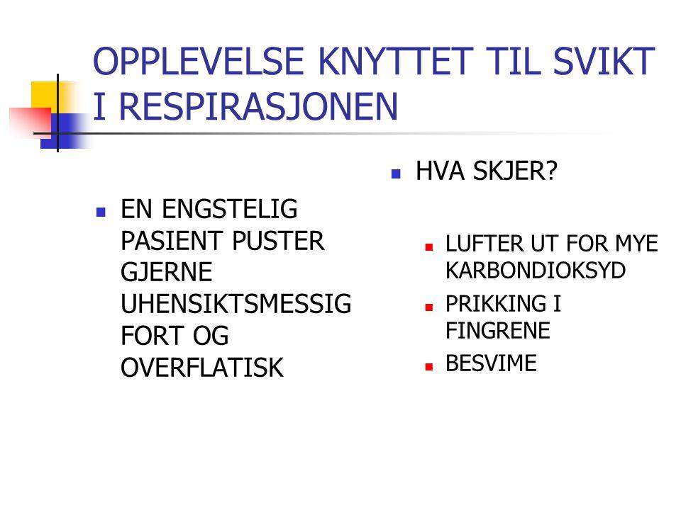 LITT ANATOMI LUNGENE Surfakant 300 millioner alveoler Overflate 80-100 kvm!.
