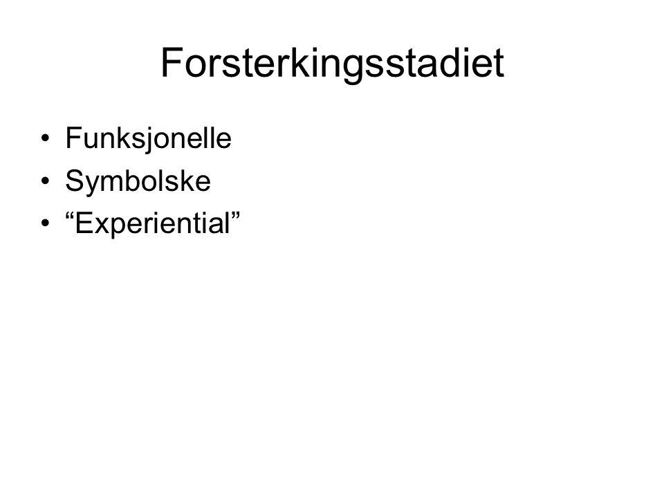 """Forsterkingsstadiet Funksjonelle Symbolske """"Experiential"""""""