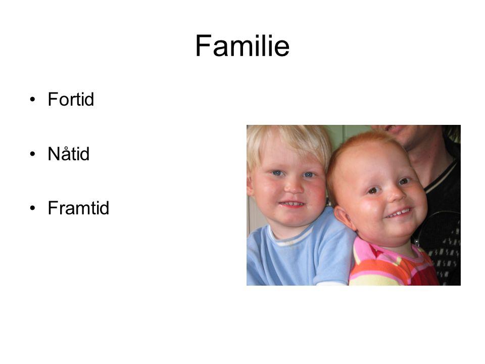 Familie Fortid Nåtid Framtid