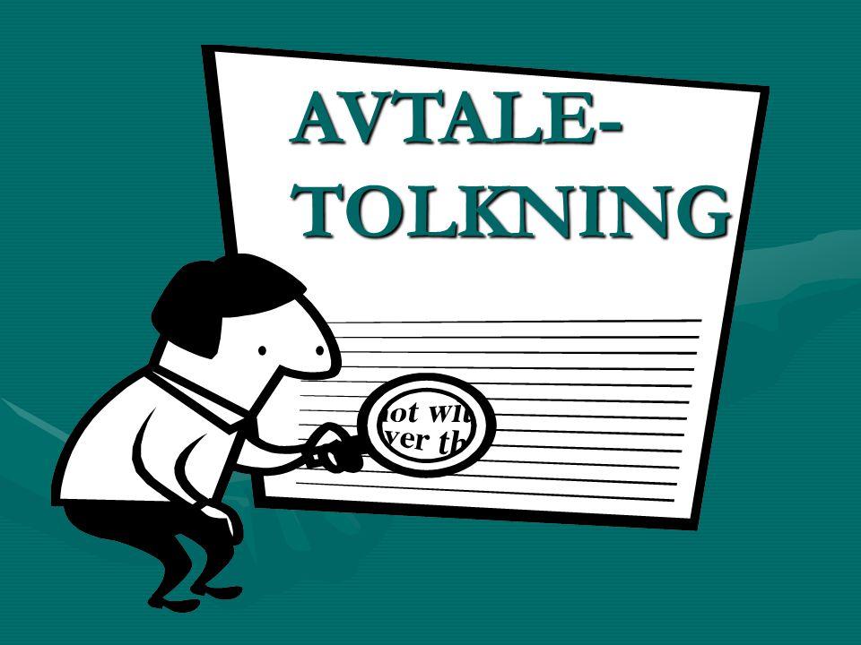 AVTALE-TOLKNING