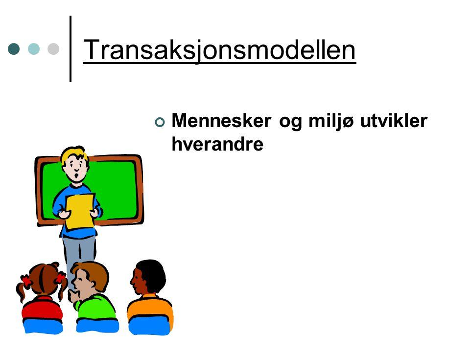 Transaksjonsmodellen Mennesker og miljø utvikler hverandre