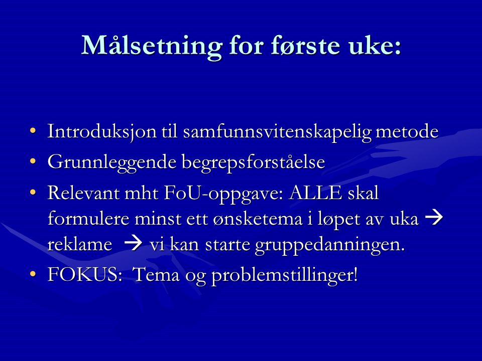 Om pensum Knut Halvorsen (2008): Å forske på samfunnet.