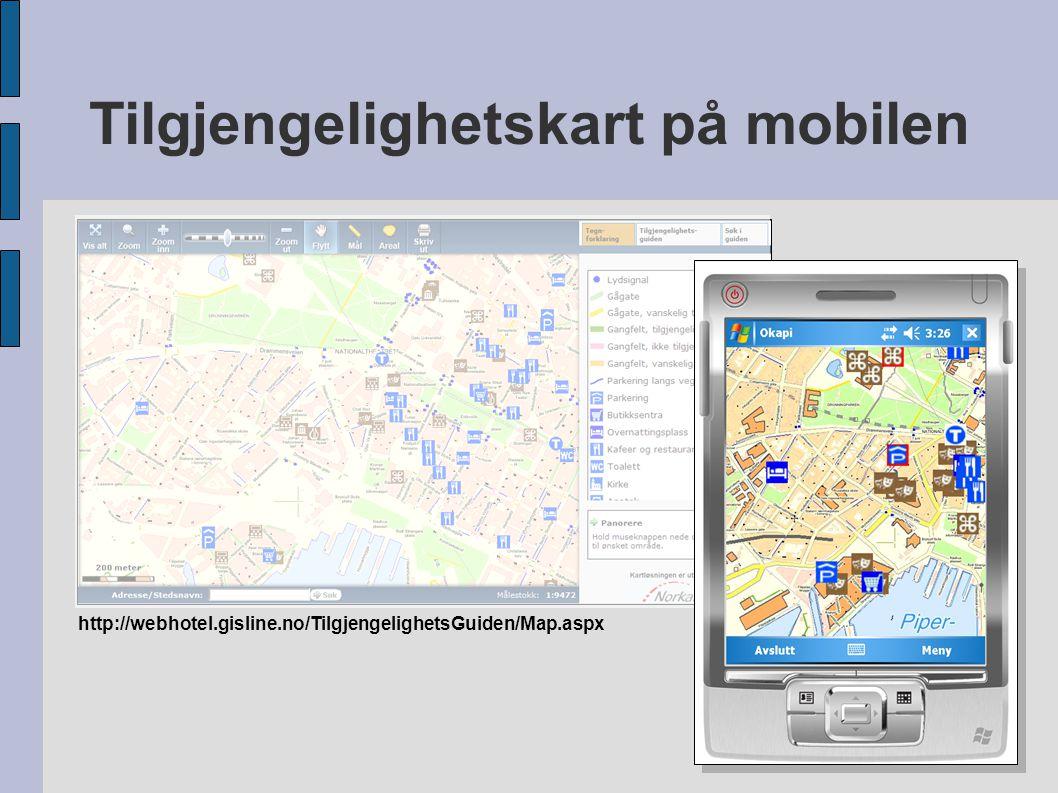 Tilgjengelighetskart på mobilen Hvorfor.