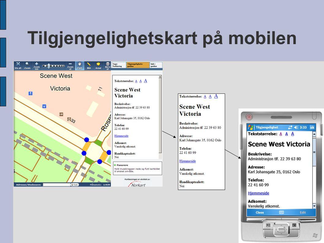 Tilgjengelighetskart på mobilen