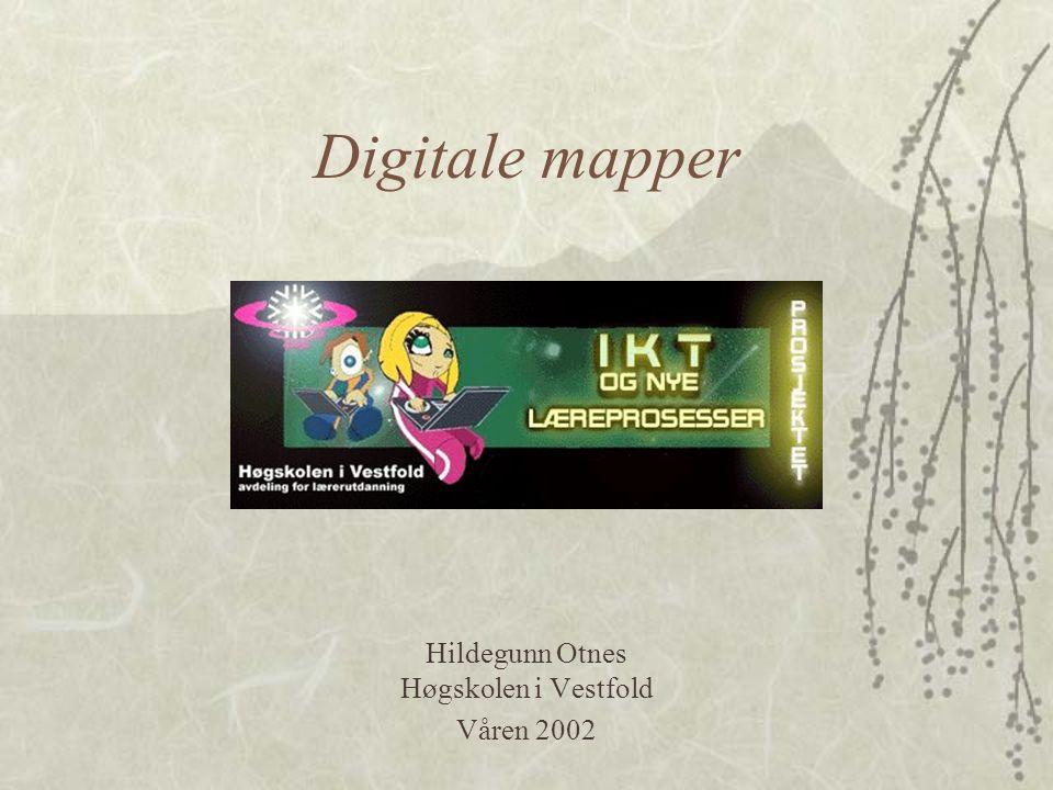 Digitale mapper Hildegunn Otnes Høgskolen i Vestfold Våren 2002