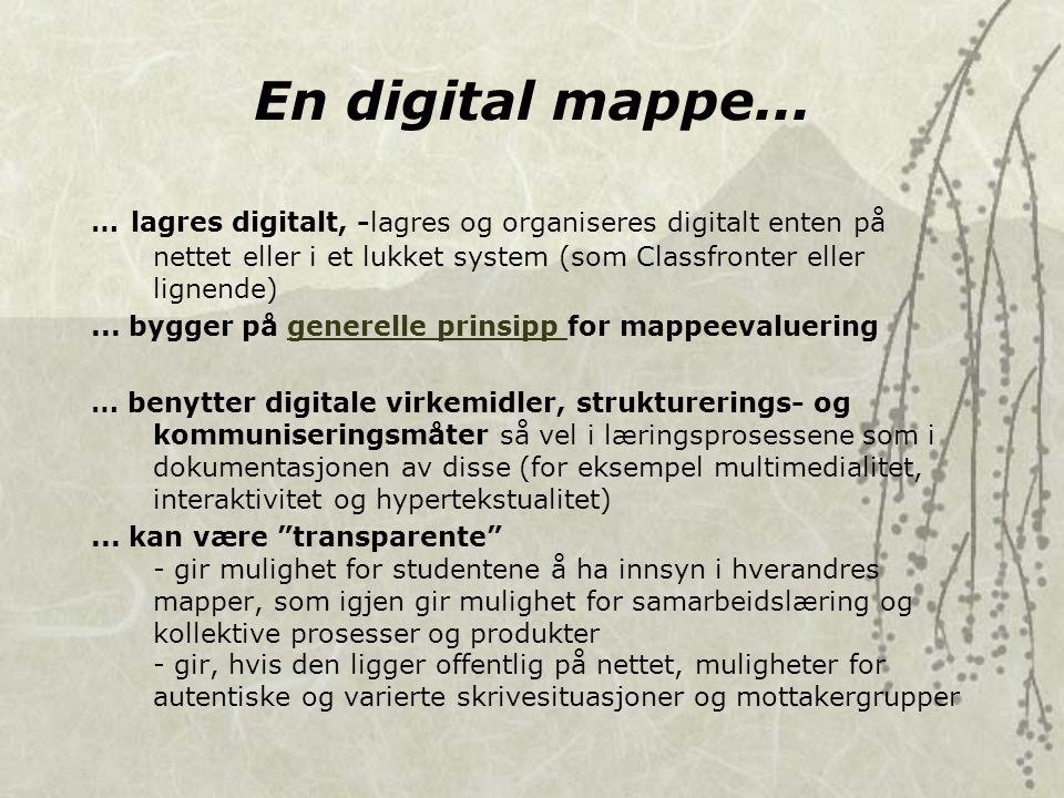 En digital mappe...