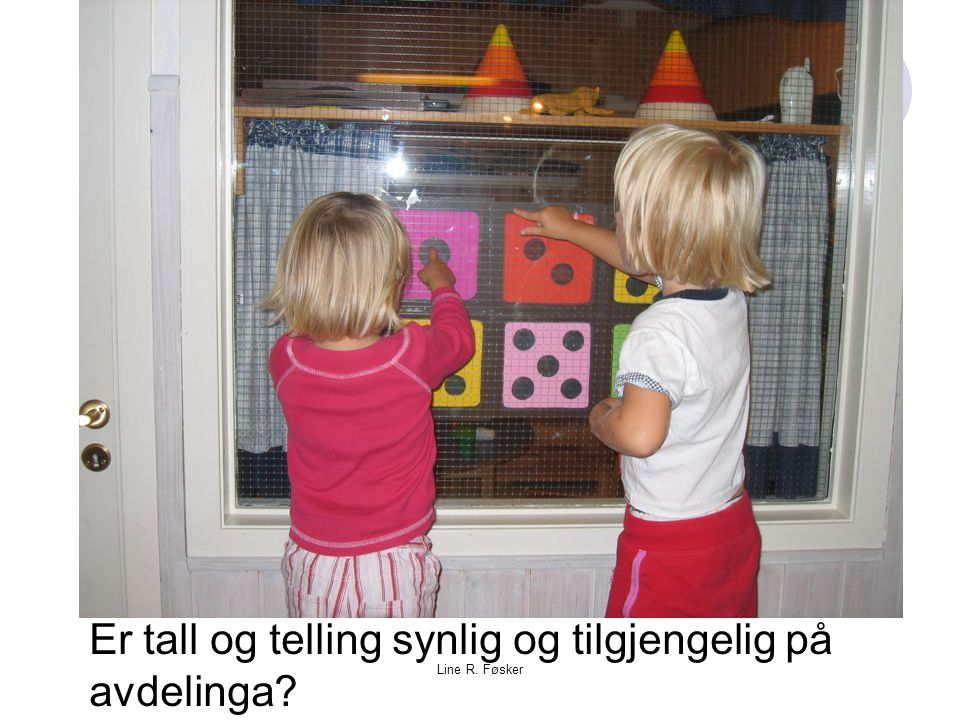 Line R. Føsker Er tall og telling synlig og tilgjengelig på avdelinga?