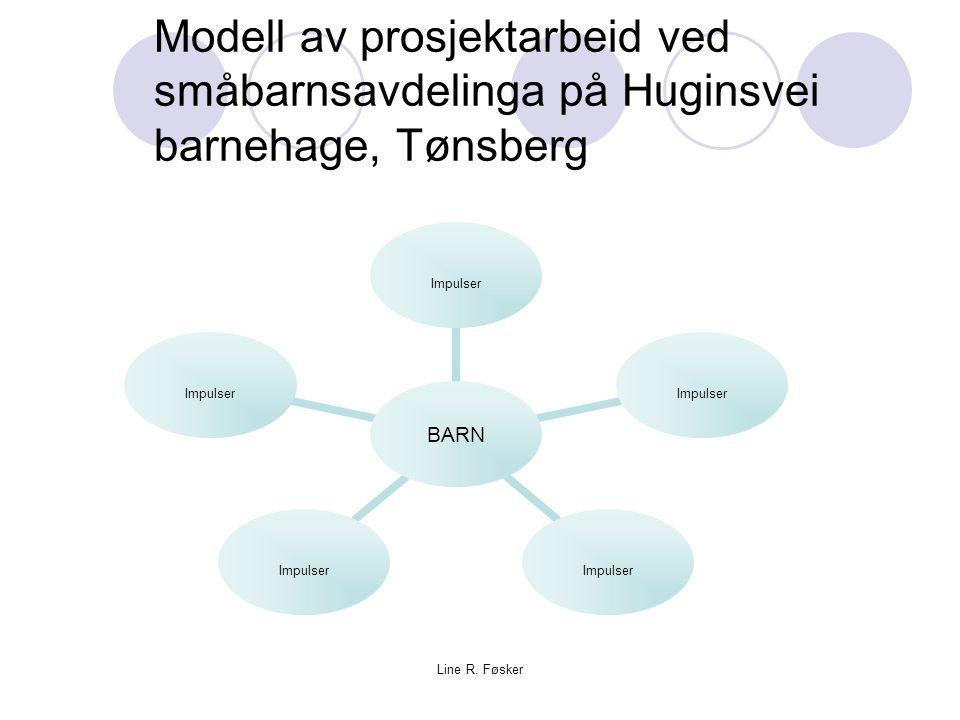 Line R. Føsker Modell av prosjektarbeid ved småbarnsavdelinga på Huginsvei barnehage, Tønsberg BARN Impulser