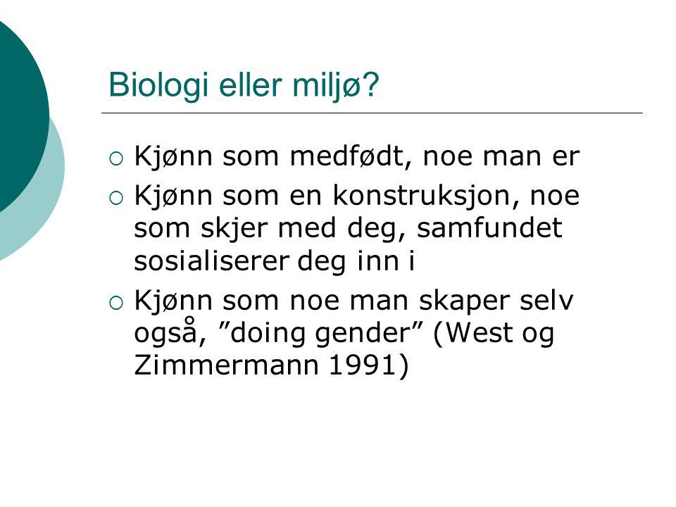 Biologi eller miljø.