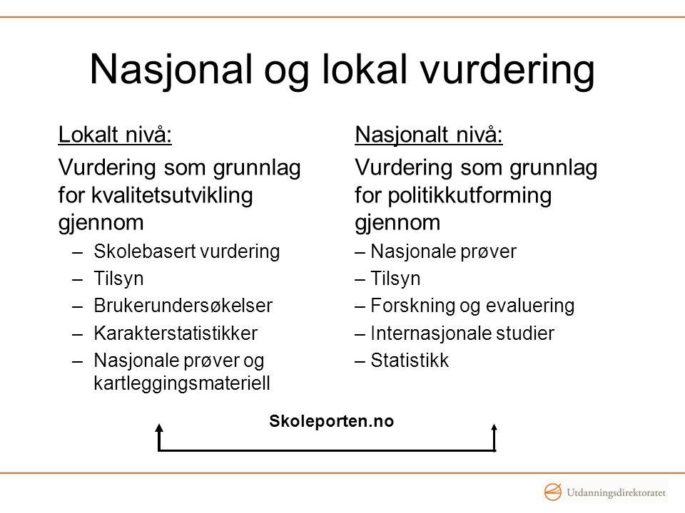 Oppsummering – formålet med nasjonale prøver De nasjonale prøvene skal kartlegge i hvilken grad elevenes ferdigheter er i samsvar med læreplanens mål for de grunnleggende ferdighetene regning og lesing på norsk og engelsk, slik de er integrert i kompetansemål for fag i LK06 etter 4.